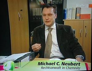 MDR Beitrag RA Michael C. Neubert Screenshot