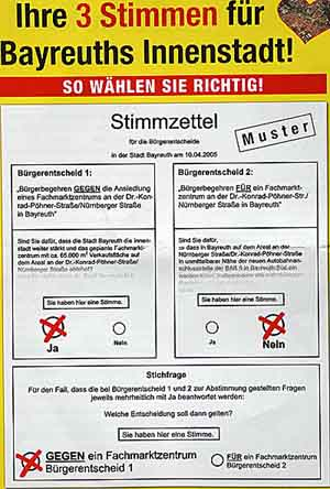 Bürgerentscheid in Bayreuth Muster